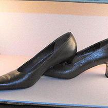 Deluxe Salvatore Ferragamo Metallic Bronze Calfskin Pumps W/silver Metallic Heel Photo