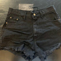 Denim Black Shorts / Your Eyes Lie / Size Large  Free People One Tea Spoon Zara Photo