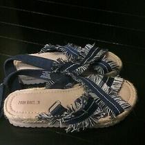 Denim Blue Jeans Zara Girls Sandals Size 13.5 Photo