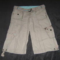 'Denim & Co' 3/4 Cropped Cargo Shorts - Size 12 - Excellent Condition Photo