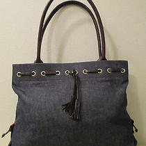 Denim Dooney & Bourke Tassel Tote Photo