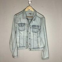 Denim Jacket by Only Vintage Retro Light Blue Womans Size 38  Photo