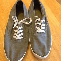 Denim Lace Up Sneakers Photo