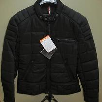Denim & Leathers by Andrew Marc Ink Insulated Moto Jacket New L Photo