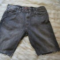 Denim Shorts Levi's 514 Cut Offs From Jeans Men's Slim Straight Frayed Size 36 Photo