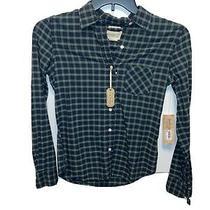 Denim & Supply Ralph Lauren Women's Rl Tomboy Plaids Button-Down Shirt Size Xs Photo