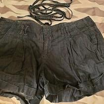 Denim Womens Shorts With Belt Sz 16 Photo