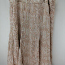 Dennis Basso Snake Print Woven Skirt With Side Zip Blush Combo Plus 20 A262917 Photo