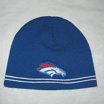 Denver Broncos Unisex Blue Beanie Cap Hat One Size by Sport Tek Photo