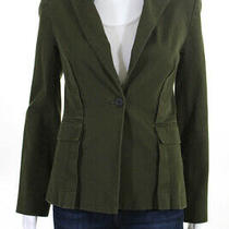 Derek Lam 10 Crosby Womens Army Green One Button Blazer Green Size 6 10803250 Photo