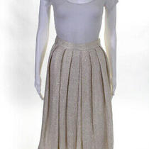Derek Lam 10 Crosby Womens Pleated Verina Skirt Beige Gold Size 0 10274304 Photo
