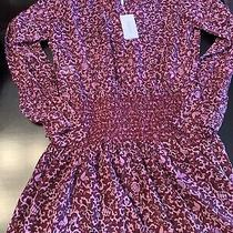 Derek Lam 10 Crosby Womens Rocco Printed Blouson Dress Purple Size 4 10732213 Photo