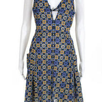 Derek Lam 10 Crosby Womens Twisted Cami Dress Blue Yellow Size 10 11430257 Photo