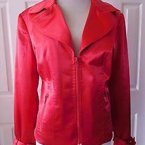 Design Elements by Donna Degnan Women's Blazer Evening Top Spring Size M Red Photo