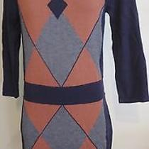 Design History Designhistory Geometric Sweater Dress M Color Block A Photo