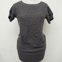 Design History Gray Knitted Acrylic Tunic Sweater Sz M Photo