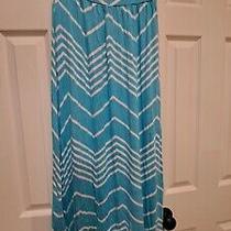 Design History Maxi Dress Blue White Nwot Strapless Size M Photo