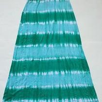 Design History Maxi Tie Dye Skirt Emerald Combo Size L Photo
