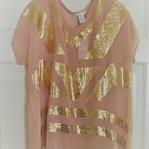 Design History Rose/blush Top W/accents 1x Nwt Photo