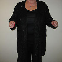 Design History Sequin Cardigan -1x- Black With Mini-Sequins  Photo