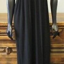 Design History Small Black Stretch Braided v Neck Empire Maxi Dress - S Photo