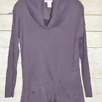 Design History Sweater Medium Purple Cowl Neck Hi Low Acrylic Photo