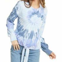 Design History Tie Front Sweatshirt Women's Blue L Photo