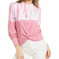 Design History Twist Front Sweatshirt Women's Pink L Photo