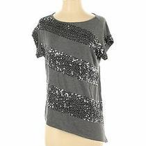 Design History Women Gray Short Sleeve T-Shirt S Photo