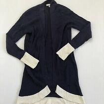 Design History Women's Blue Long Sleeved Cardigan Sweater Size S Photo