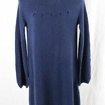 Design History Women's Navy Blue Cashmere Dress Size M Photo