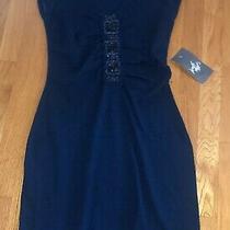 Design History Womens Navy Blue Knit Dress - Size S New Photo