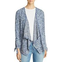 Design History Womens Navy Marled Open Front Layering Cardigan Top M  7410 Photo