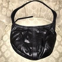 Designer Black Leather Shoulder Bag Photo