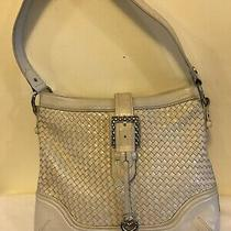 Designer Brighton Beige Pebbled Leather Shoulder Bag Tote Purse / Satchel Photo