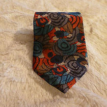Designer Christian Dior Neck Tie Colorful Ornate Design 56x3.75 Photo