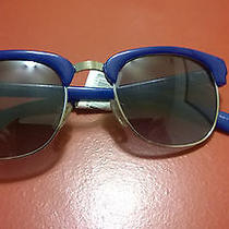 Designer Cole Haan Women's Blue Sunglasses Metal & Plastic Nwt Clubmaster Photo