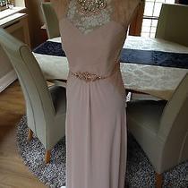 Designer Debut Debenhams Blush Rose Gold Evening Prom Dress Long Occasion 10 New Photo