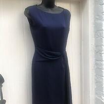 Designer Diane Von Furstenberg Silk Dress Navy Blue S Uk-6  / Us-2 Bnwt Photo