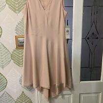 Designer Dkny Dress Blush Size Us 10  Think This Uk 14 Dipped Hem Nwt 149 Photo