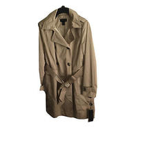 Designer Donna Karan Double Breasted Hooded Trench Coat Dkny Size Large - Bnwt Photo