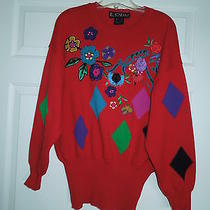 Designer Escada Sweater W/ Front Design Retail 375 Lqqk at Me Photo