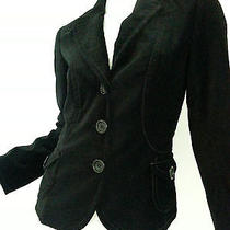 Designer Gerard  Darel Black Velvet Jacket Blazer 40 Photo