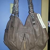 Designer Inspired Vegan Leather Jeweled Hobo Tassel Pocket Purse Handbag Brown Photo
