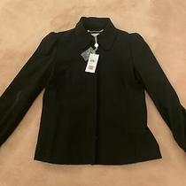 Designer Ladies Black Michael Kors Short Smart Jacket Size 8 Bnwt Photo