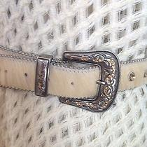 Designer Leatherock Swarovski Crystal Leather Hair Western Boho Belt M 260.00 Photo