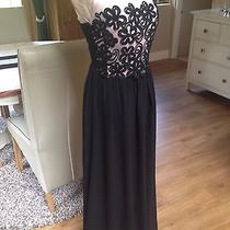 Designer Little Mistress Black Blush Nude Evening Prom Dress Long Ball Gown 10 Photo