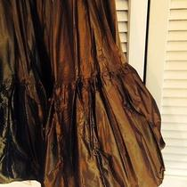 Designer Miu Miu Ladies Taffeta Pull on Skirt Size 44 Photo