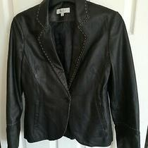 Designer Next Soft Blazerstyle Leather Jacket Size Uk 10 Excellent Cond Rrp 125 Photo