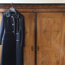 Designer Prada Ladies Black Fitted Coat Bnwt Uk Size 8 Photo
